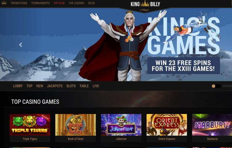 King Billy homepage image