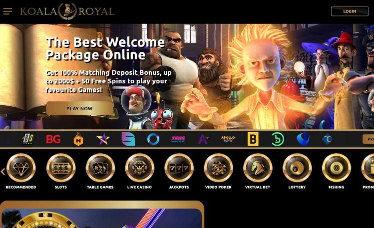 Koala Royal homepage image