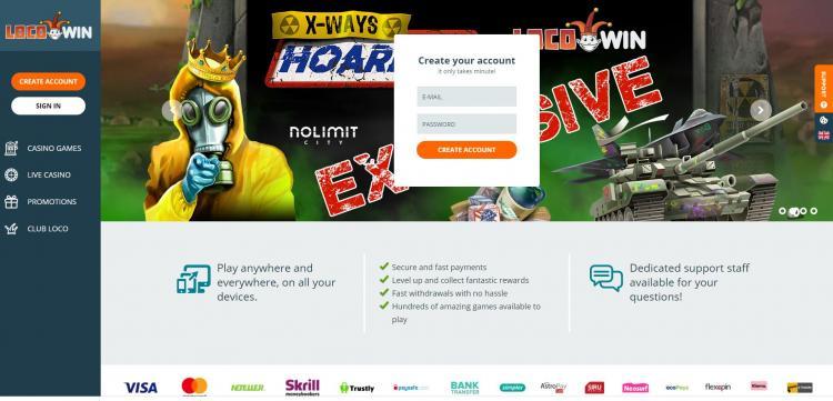 Locowin homepage image