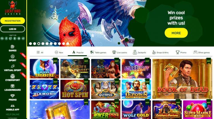 Lucky Bird homepage image