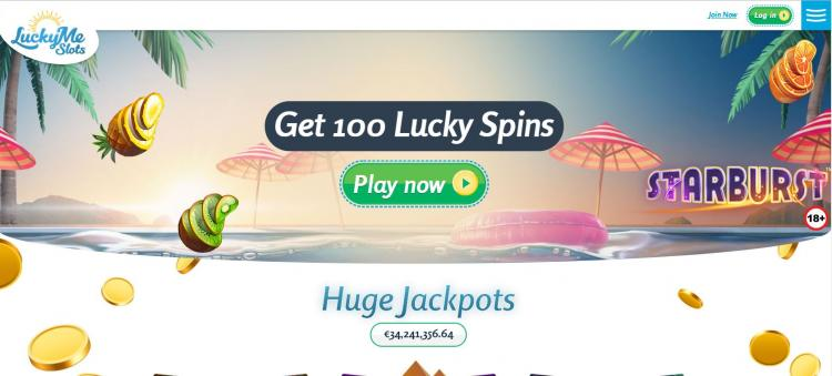 Lucky Me Slots homepage image