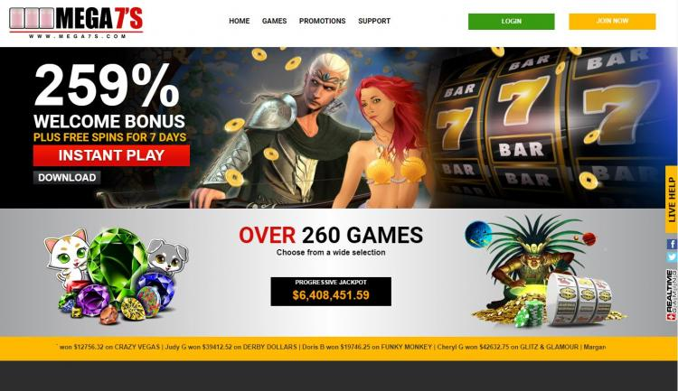 Mega 7's homepage image