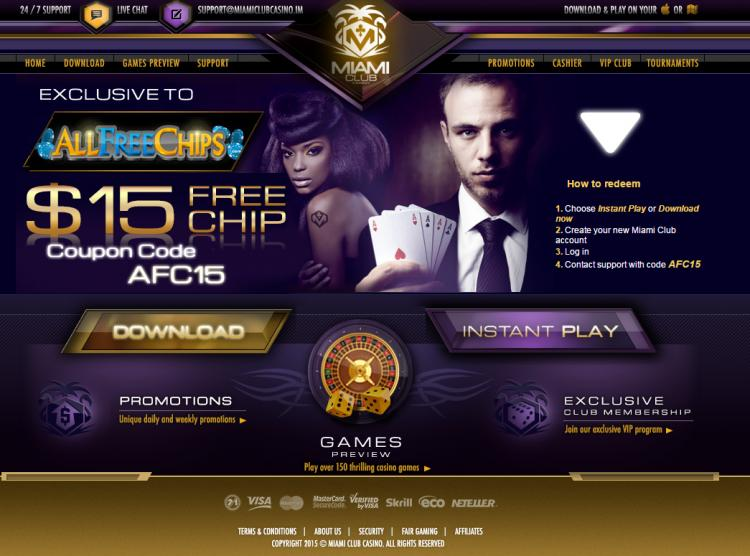 Miami Club homepage image