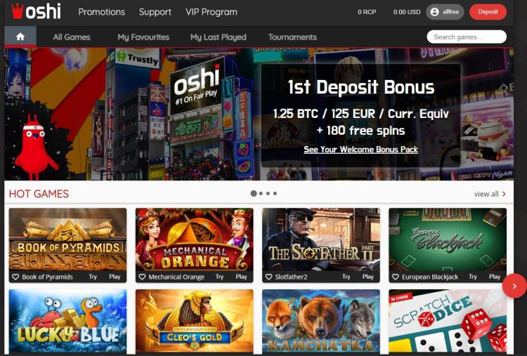 Oshi homepage image
