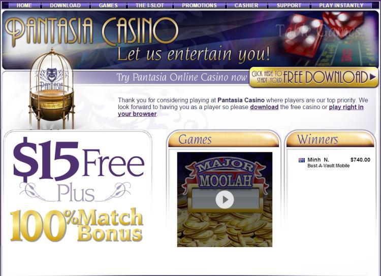 Pantasia homepage image