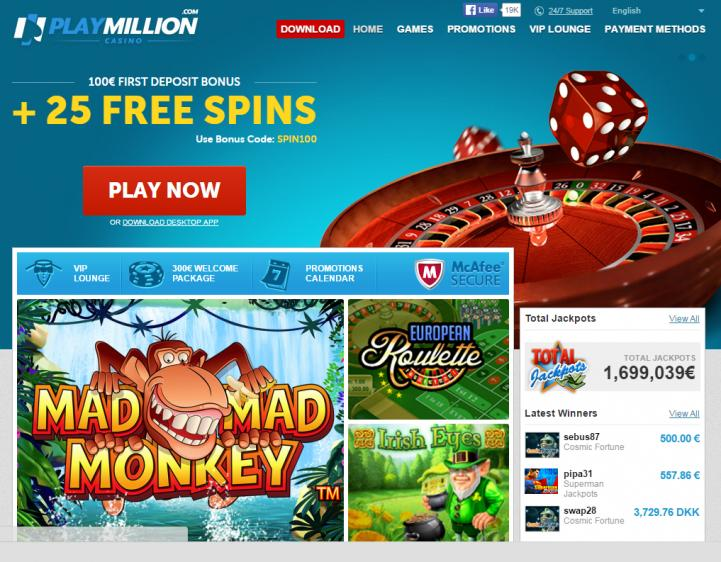 Play Million homepage image