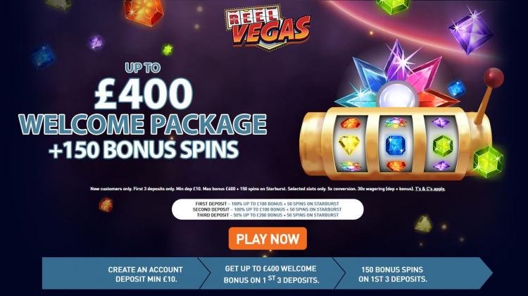Reel Vegas homepage image