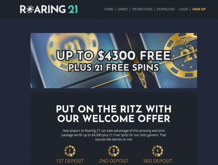 Roaring 21 homepage image