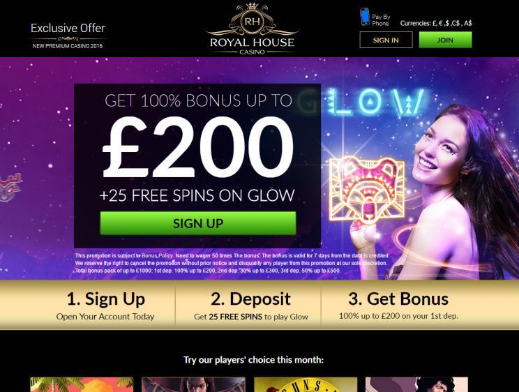 Royal House homepage image