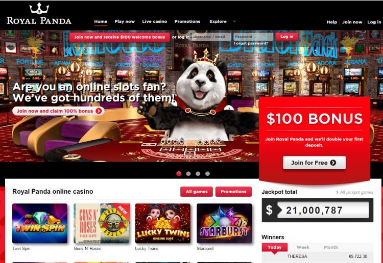 Royal Panda homepage image