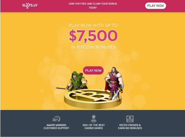 Slots LV homepage image