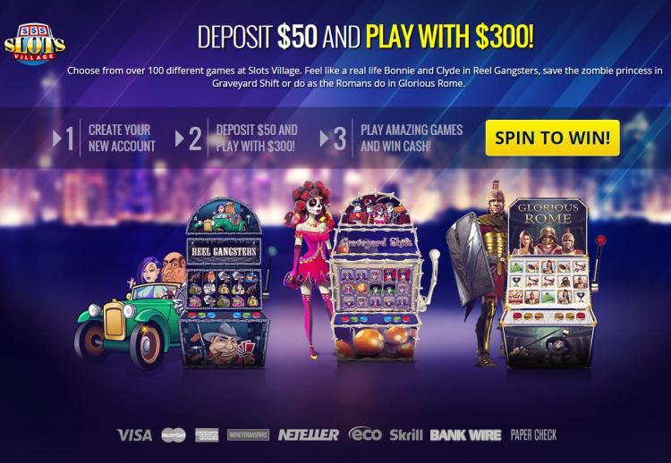 Slots Village homepage image