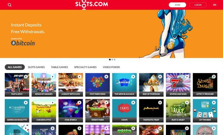Slots.com homepage image