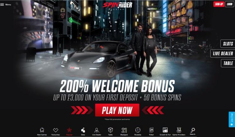 Spinrider homepage image