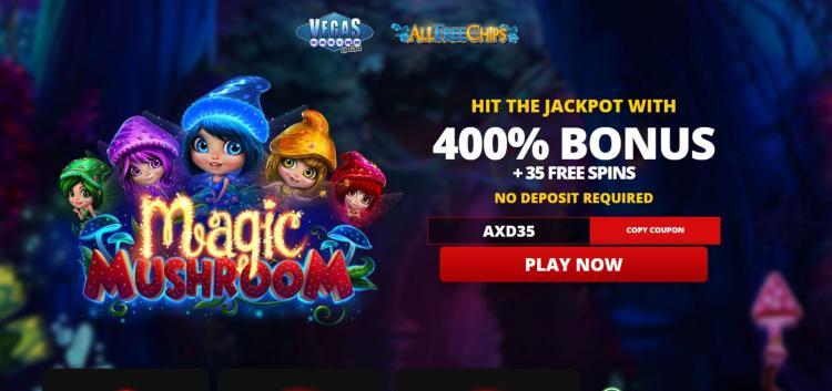 Vegas Casino Online homepage image