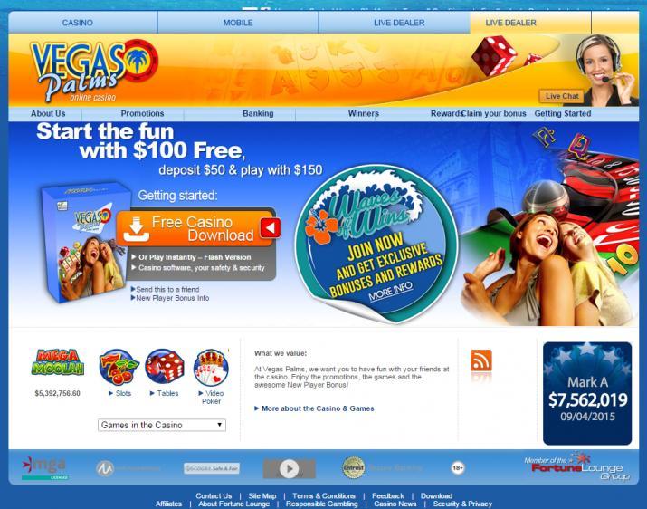 Vegas Palms homepage image