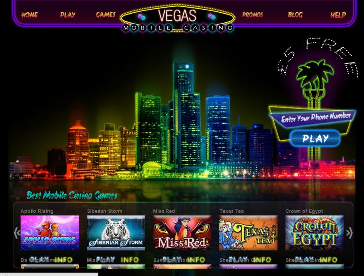 VegasMobile homepage image