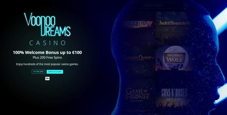 Voodoo Dreams homepage image