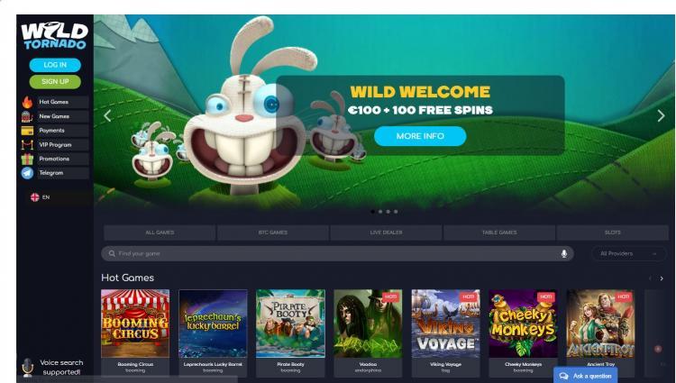 Wild Tornado homepage image