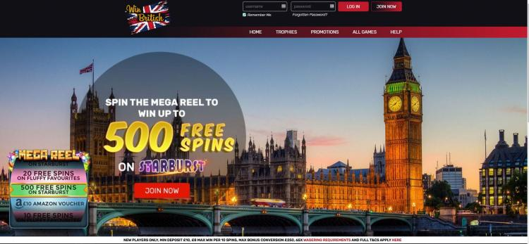 Win British homepage image