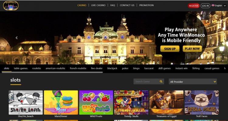Win Monaco homepage image