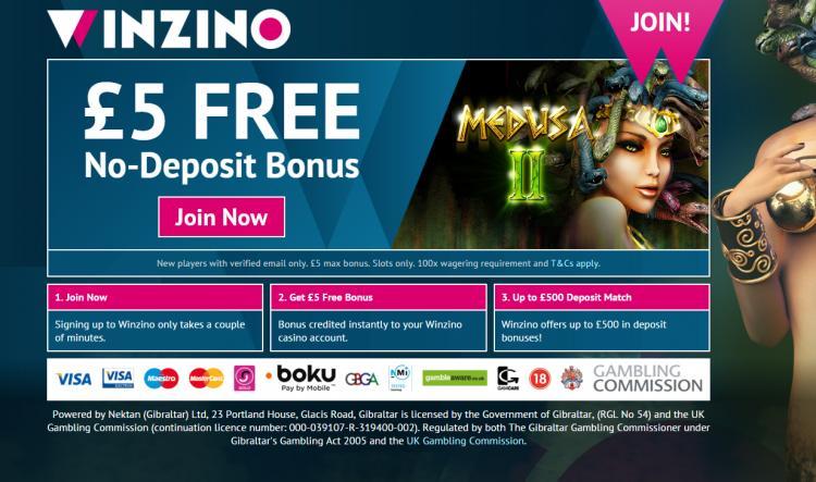 Winzino homepage image