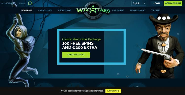 Wixstars homepage image