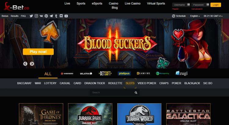 X-Bet homepage image