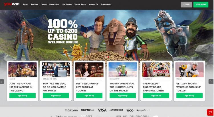 YouWin homepage image