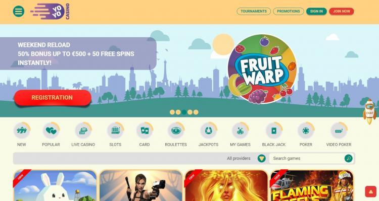 Yoyo homepage image