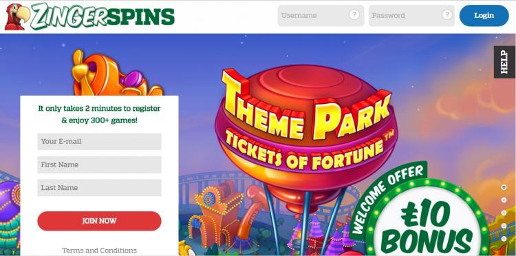Zinger Spins homepage image