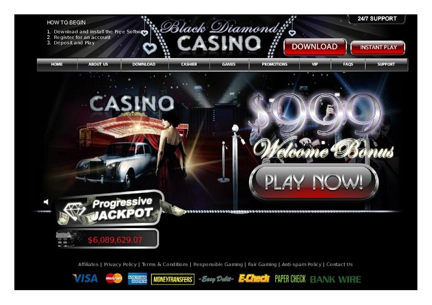 Black Diamond Casino Bonus Code