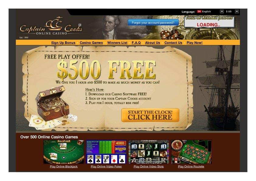 captain cook casino forum