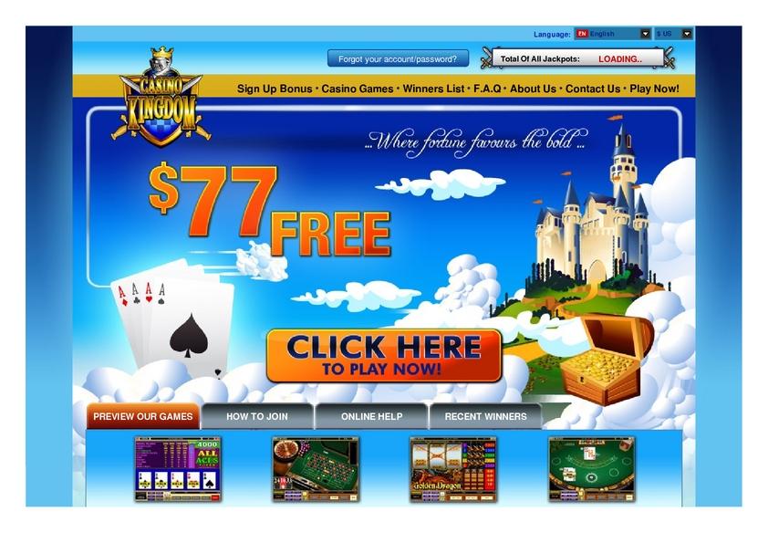 Casino kingdom online jackpot games online casino