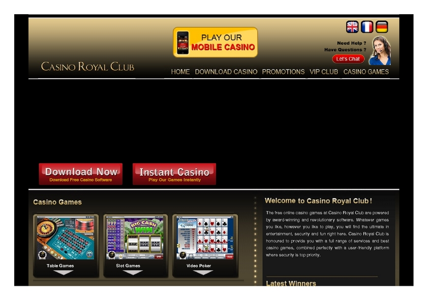 Casino royal club play download games can you beat baccarat