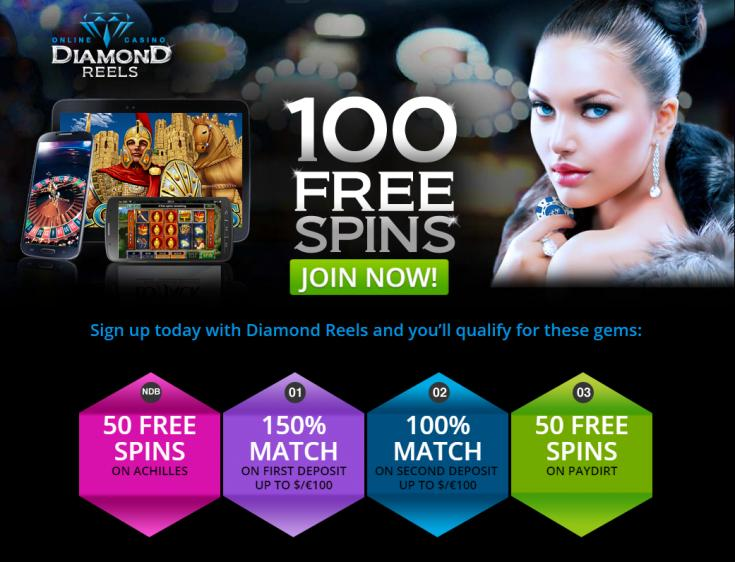 Diamond Reels No Deposit Casino Bonus: $25 Free Chip