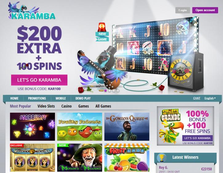 karamba online casino twist game login