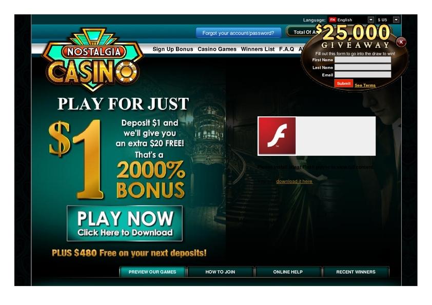 casino nostalgia