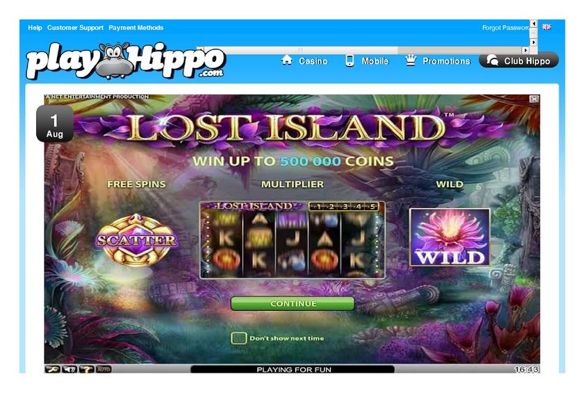 play hippo casino bonus code