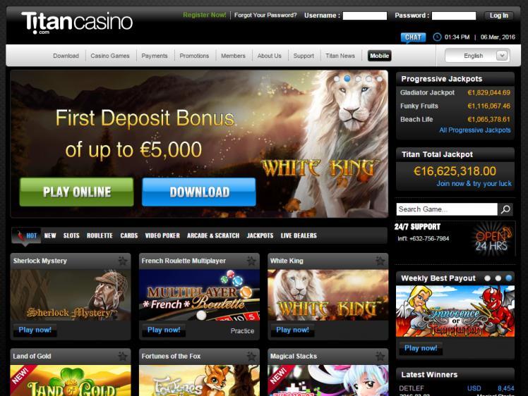 титан казино бездепозитный бонус