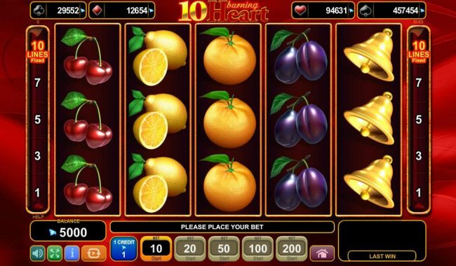 Play slots at Bettilt: Bettilt featuring the Video Slots 10 Burning Heart with a maximum payout of $1,000,000