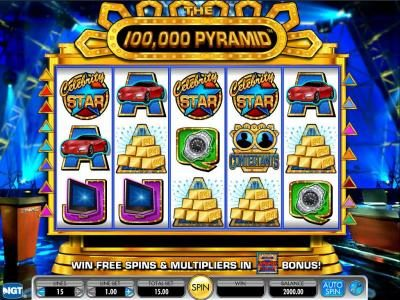 Slots Angel featuring the Video Slots 100,000 Pyramid with a maximum payout of $250,000