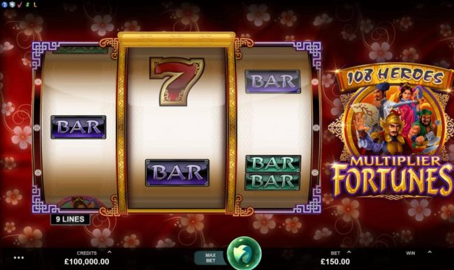 Mr Green featuring the Video Slots 108 Heroes Multiplier Fortunes with a maximum payout of $100,000