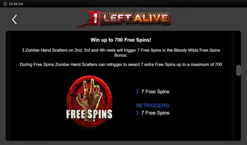 1 Left Alive :: Scatter Symbol Rules