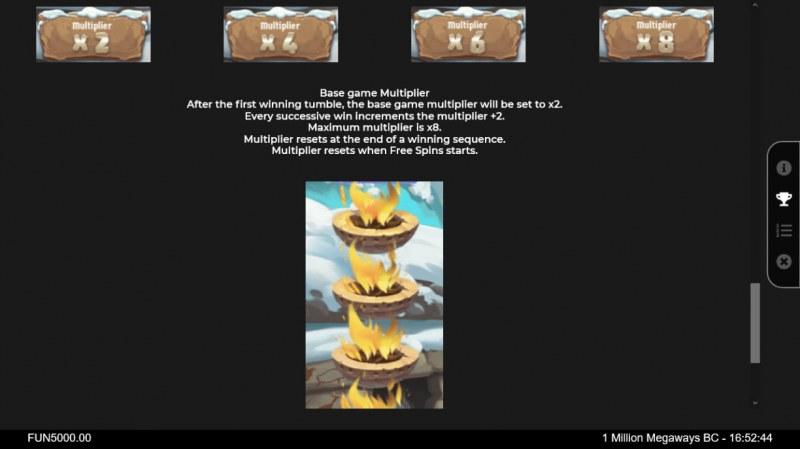1 Million BC Megaways :: Base Game Multiplier