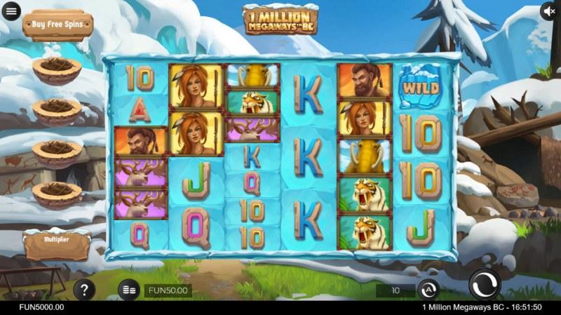 1 Million BC Megaways :: Main Game Board