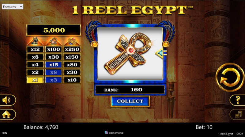 1 Reel Egypt :: Player can collect winnings at any time