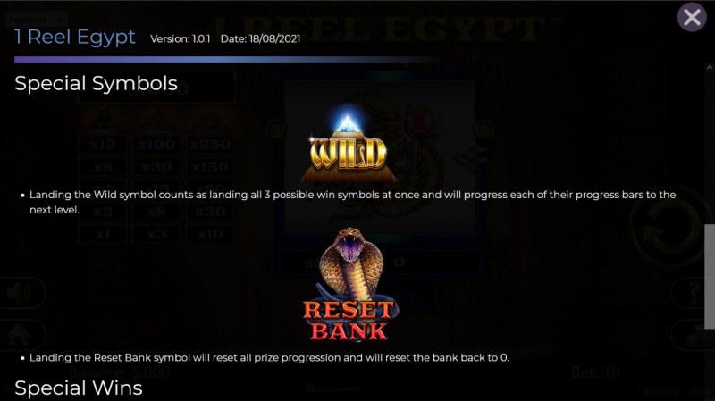 1 Reel Egypt :: Wild Symbol Rules