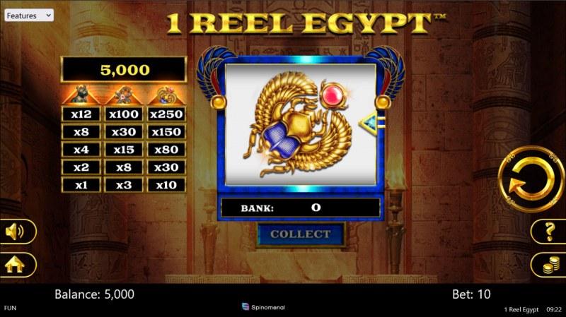 1 Reel Egypt :: Main Game Board