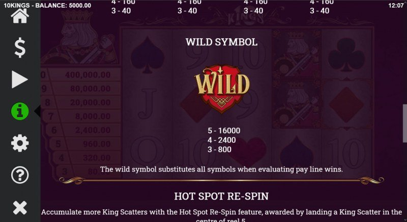 10 Kings :: Wild Symbol Rules